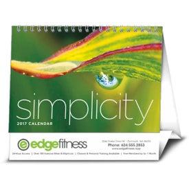 Monogrammed Simplicity Large Desk Calendar