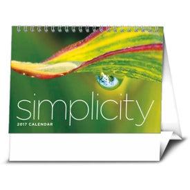 Imprinted Simplicity Large Desk Calendar