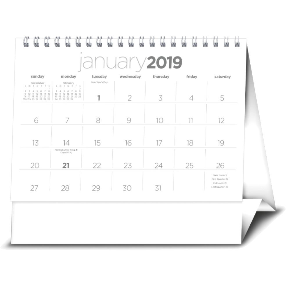 Promotional 2020 Simplicity Large Desk Calendars With Custom Logo
