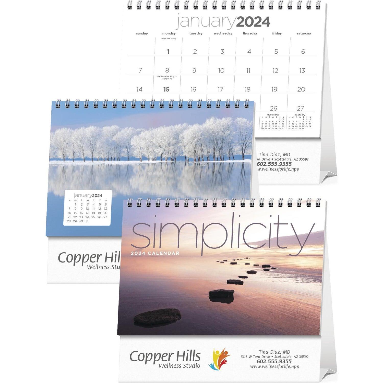Calendar Design Zip : Promotional simplicity large desk calendars with