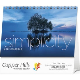 Simplicity Large Desk Calendar Branded with Your Logo