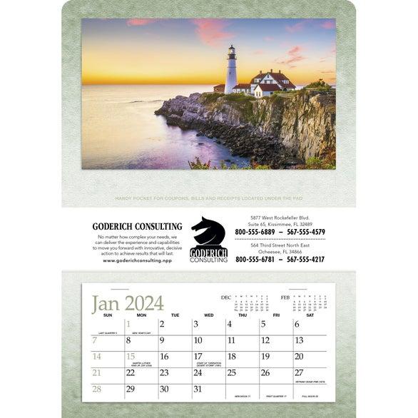 Single Pocket Calendars (2021)   $1.67 ea. @ 100 Qty.