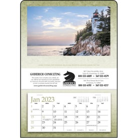 Monogrammed Single Pocket Calendar