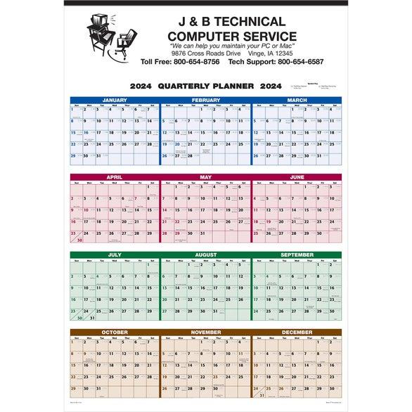 Promotional Single Sheet Wall Calendar Full Year Views