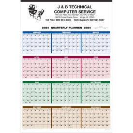 Single Sheet Wall Calendar Full Year View