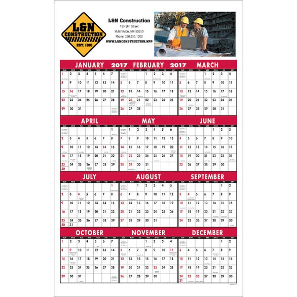 Single Sheet Span-a-Year Calendar