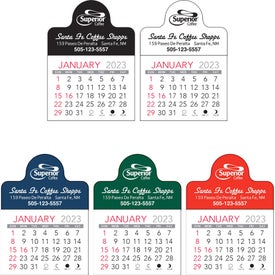 Imprinted Small Circle Vinyl Adhesive Calendar