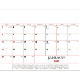 Monogrammed Basic Desk Pad Calendar