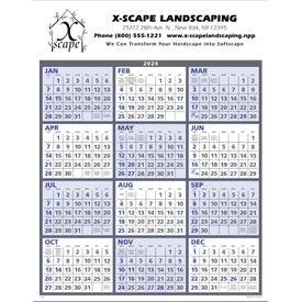 Span-A-Year Calendar (Blue 2020)
