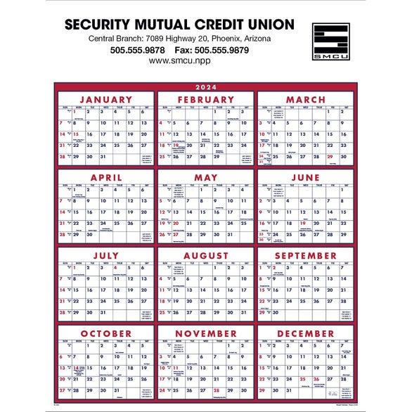 Span-A-Year Calendar (2017) | Custom Calendars | 2.10 Ea.