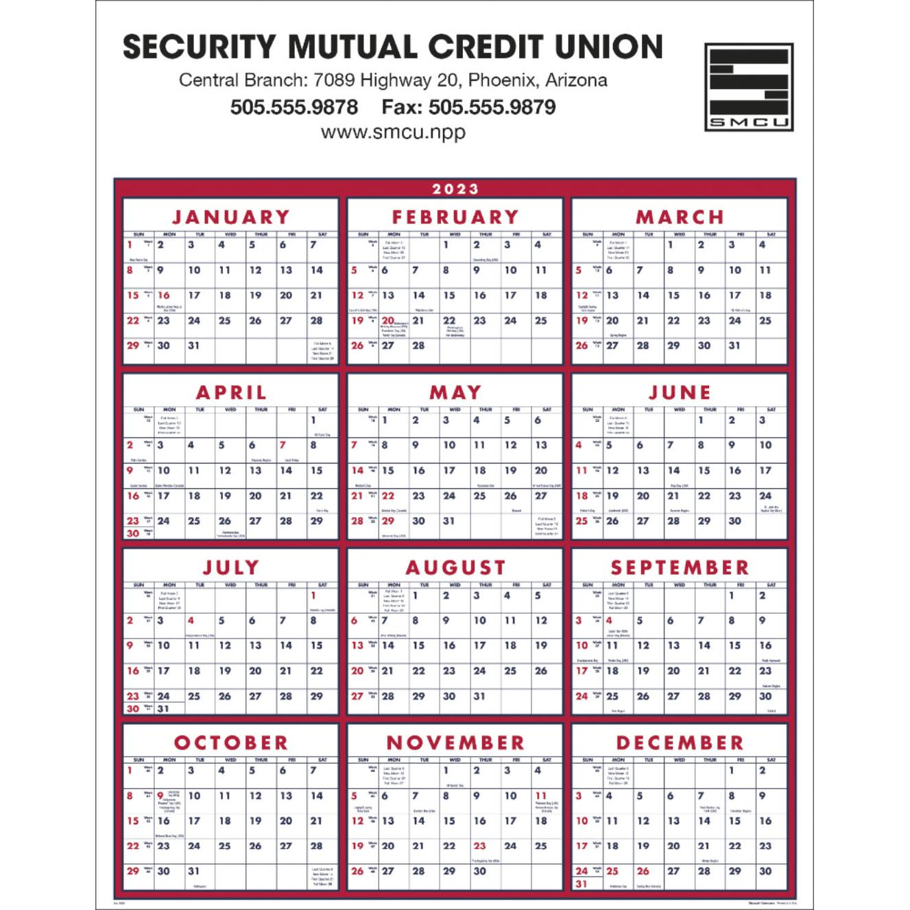promotional 2019 span a year calendars with custom logo for 146 ea