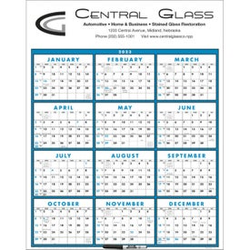 Span-A-Year Calendar (Laminated with Marker, 2020)