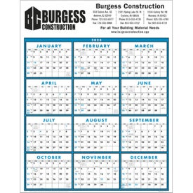 Span-A-Year Non-Laminated Calendar with Your Logo