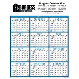 Span-A-Year Non-Laminated Calendar with Your Logo