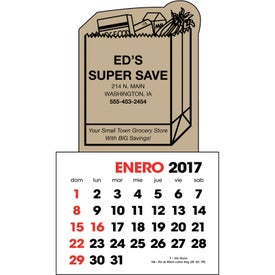 Spanish 2-Color Stick Up Calendar for Advertising