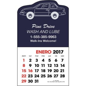 Personalized Spanish 2-Color Stick Up Calendar