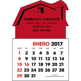 Advertising Spanish 2-Color Stick Up Calendar