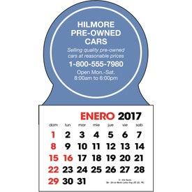 Branded Spanish 2-Color Stick Up Calendar