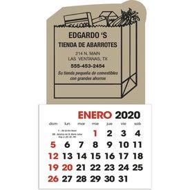 Monogrammed Spanish 2-Color Stick Up Calendar