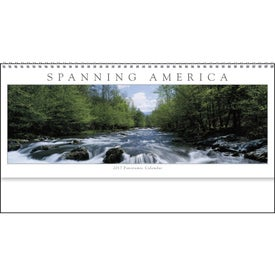 Spanning America Panoramic Exec Calendar with Your Logo