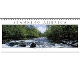 Spanning America Panoramic Exec Calendar with Your Logo