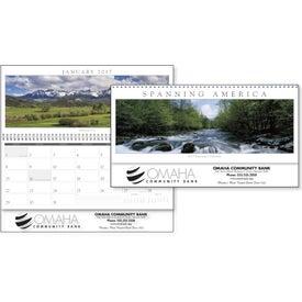 Promotional Spanning America Panoramic Exec Calendar