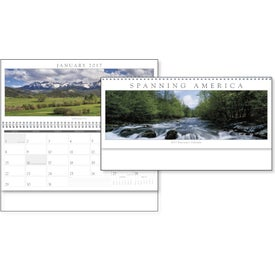 Spanning America Panoramic Exec Calendar Branded with Your Logo