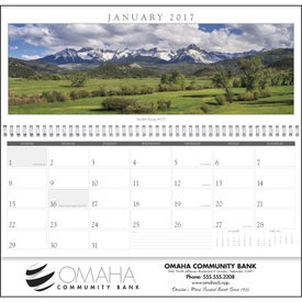 Imprinted Spanning America Panoramic Exec Calendar