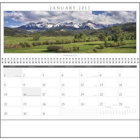 Spanning America Panoramic Exec Calendar for Your Organization