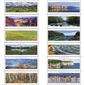 Company Spanning America Panoramic Exec Calendar