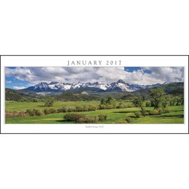 Branded Spanning America Panoramic Exec Calendar