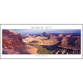 Monogrammed Spanning America Panoramic Exec Calendar