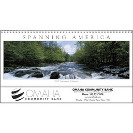 Spanning America Panoramic Exec Calendar for Promotion