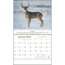 Sportsman Appointment Calendar with Your Slogan