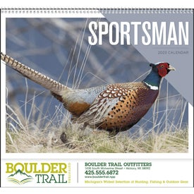 Sportsman Appointment Calendar Giveaways