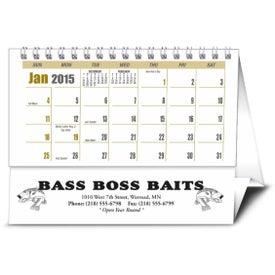 Imprinted Sportsman Desk Calendar