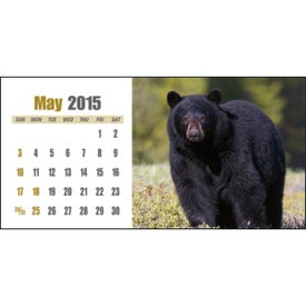 Imprinted Sportsman Desk Calendar