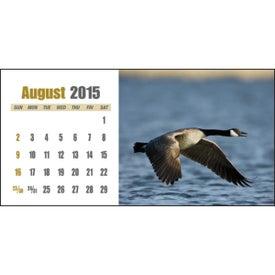 Sportsman Desk Calendar Imprinted with Your Logo