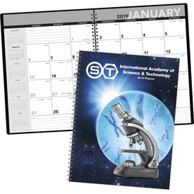Printed Standard Year Desk Planner with Custom Cover