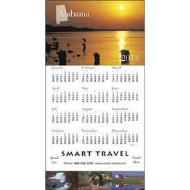 State Tour Z-Fold Greeting Card Calendar Imprinted with Your Logo