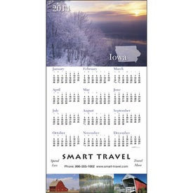 Advertising State Tour Z-Fold Greeting Card Calendar