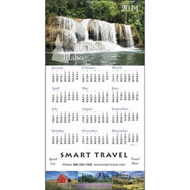 Customized State Tour Z-Fold Greeting Card Calendar