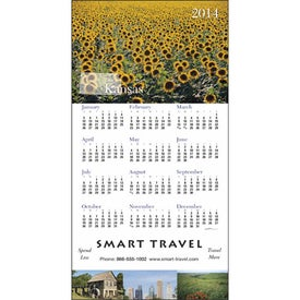 State Tour Z-Fold Greeting Card Calendar Branded with Your Logo