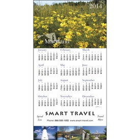 Customized State Tour Z-Fold Greeting Card Calendar
