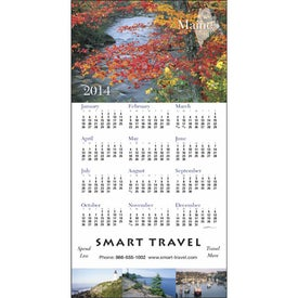 Printed State Tour Z-Fold Greeting Card Calendar