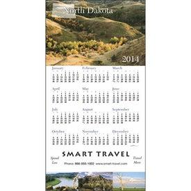 Monogrammed State Tour Z-Fold Greeting Card Calendar