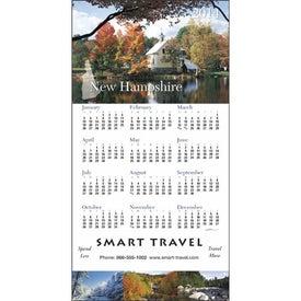 Custom State Tour Z-Fold Greeting Card Calendar