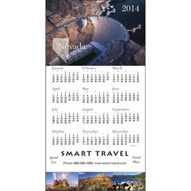 Imprinted State Tour Z-Fold Greeting Card Calendar