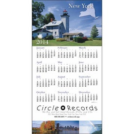 Advertising State Tour Z-Fold Greeting Card Calendar