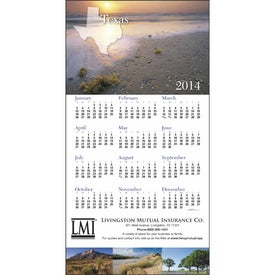 State Tour Z-Fold Greeting Card Calendar for Marketing